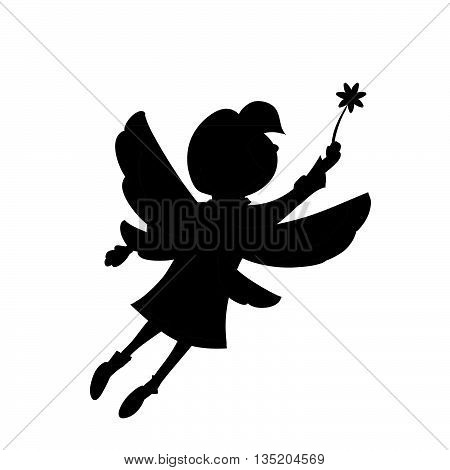 girl flutters flies up in the air