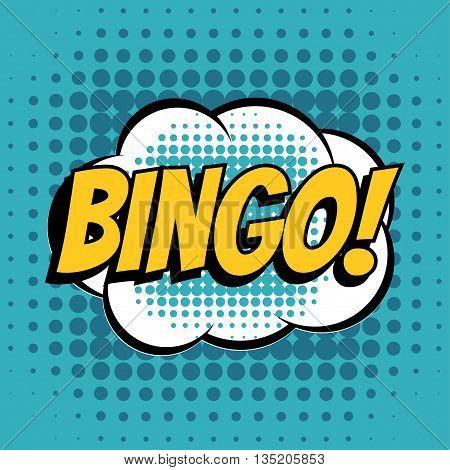 Bingo comic book bubble text retro style