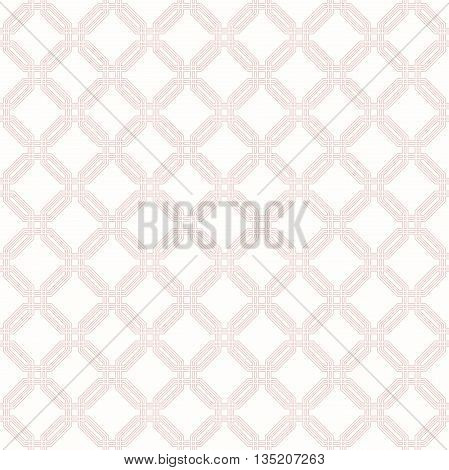 Geometric fine abstract octagonal pink background. Seamless modern pattern
