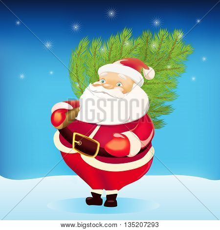 Vector illustration of santa claus. Vector illustration can be used for creating logos and emblems prints web and other crafts.