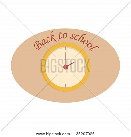 Clock icon vector illustration. Watch timer minute clock symbol alarm vector sign. Second circle deadline design. Clock icon concept business element, graphic pointer clock style countdown sign.