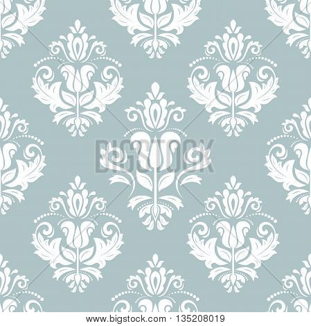 Oriental classic blue and white ornament. Seamless abstract background