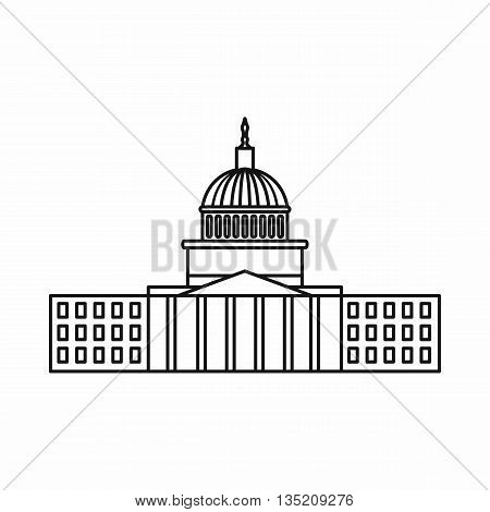 Capitol icon in outline style isolated on white background