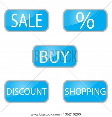 Web button for shooping and online shop. Discount and buy buttons. sale and shopping buttons. Vector illustration