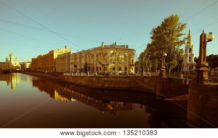 rivers and canals, St. Petersburg, reflection in the water channel