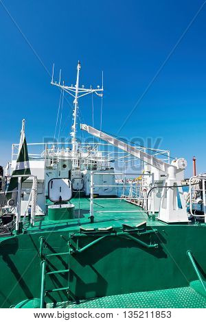 Deck Of Ship On Sunny Day