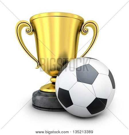 Gold Cup awarded in football (done in 3d rendering)