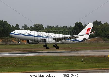 Air China Airbus A330-200 Airplane Chengdu Airport