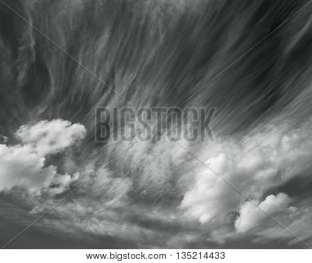 Photo scenic clouds in black and white abstract nature background