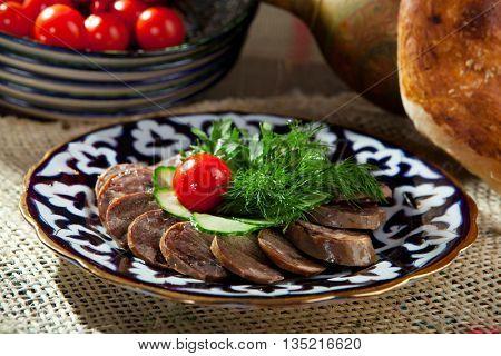 Kazy - Traditional Sausage-like food made from Horseflesh