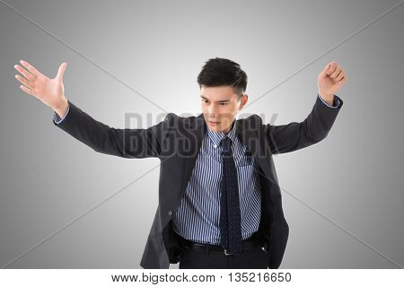 Business conductor man, closeup portrait