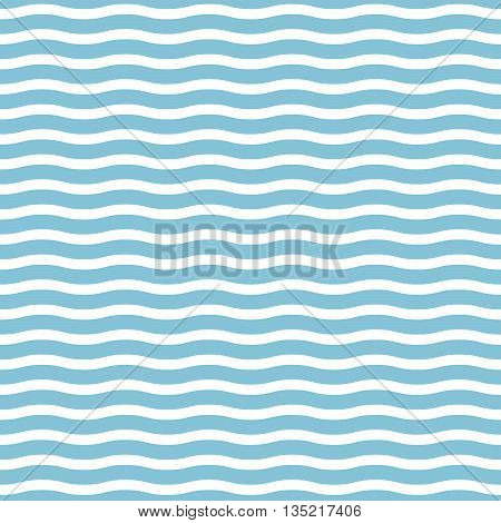 Vector seamless sea waves on a light blue background, suitable for printing on various surfaces and fabrics production
