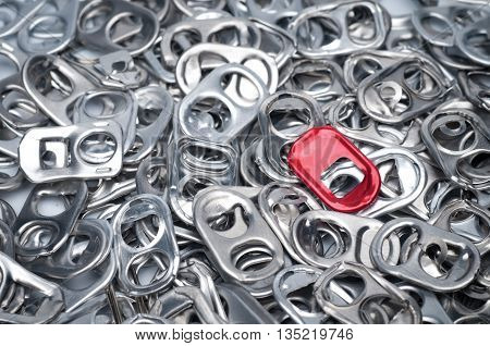 Aluminum ring pulls together a lot of piles.