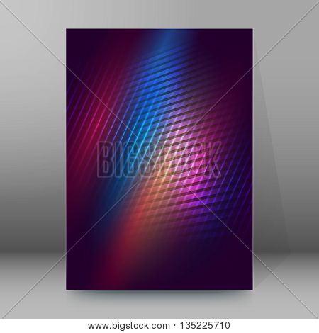 Brochure Cover Template Vertical Format Glowing Background22