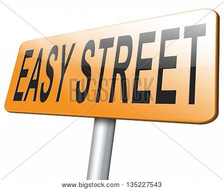 easy street and simple way road sign