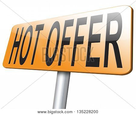 Hot Offer Sign