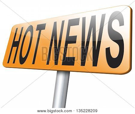 hot news latest breaking new bulletin road sign