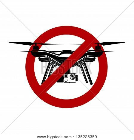 no drone fly zone vector sign