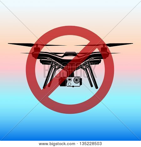 no fly zone drone fly zone vector sign