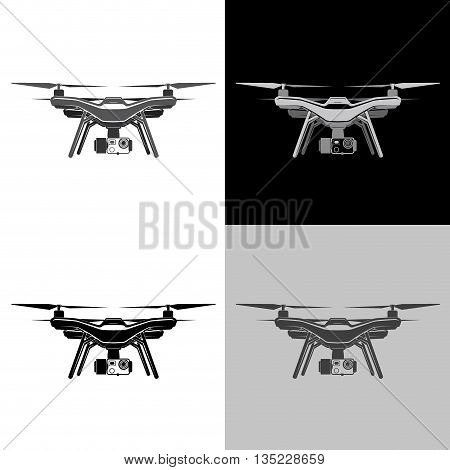 drone wireless fly camera vector sign