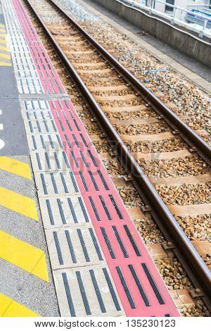 Japan train station  ( Filtered image processed vintage effect. )