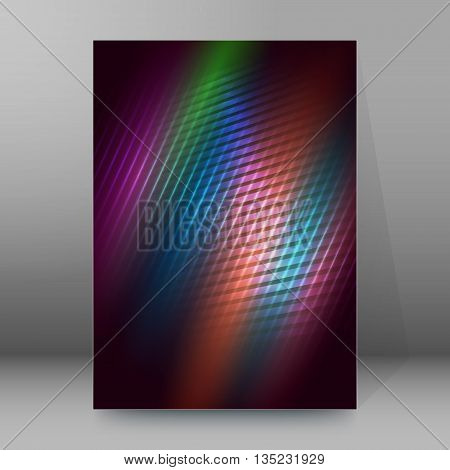 Brochure Cover Template Vertical Format Glowing Background23
