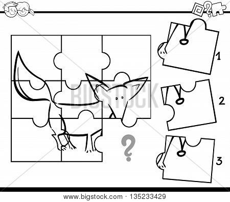 Puzzle Activity Coloring Task