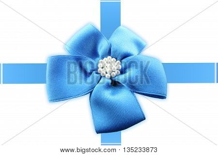 Bow and ribbon against a white background