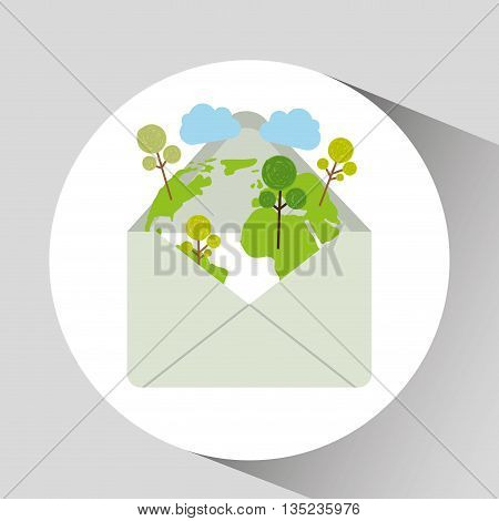 save the planet design, vector illustration eps10 graphic