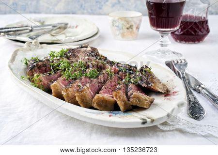 Barbecue Cote de Boeuf on Plate