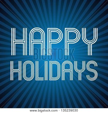 Color Dark Blue Shadow Abstract Design Happy Holidays  Eps10