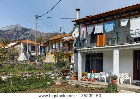 Typical house in village of Potamia, Thassos island,  East Macedonia and Thrace, Greece