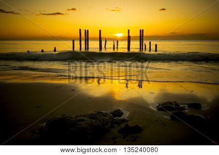 Port Willunga, South Australia At Sunset