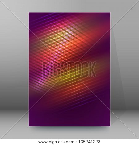 Brochure Cover Template Vertical Format Glowing Background25