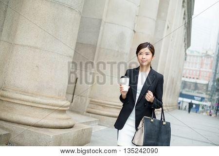 Asian Businesswoman walking at outdoor