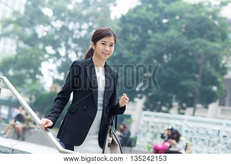 Business woman walkiing at outdoor