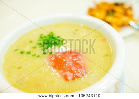 Crab of congee