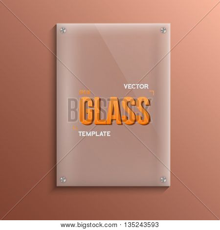 Illustration of Realistic Vector Glass Plate Template Icon. EPS10 Vector Plastic Plate