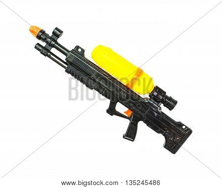 Old Water Gun Isolate On White Background. Clipping Path