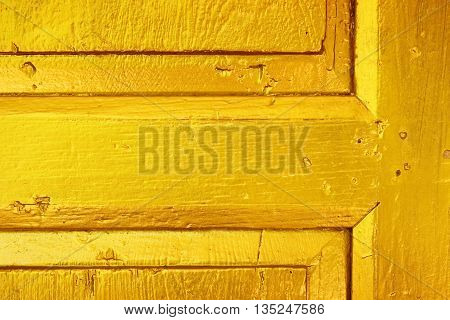 Thai traditional style door golden close-up pattern