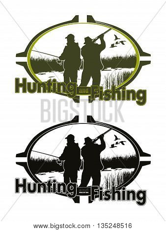 hunting and fishing logo for you design
