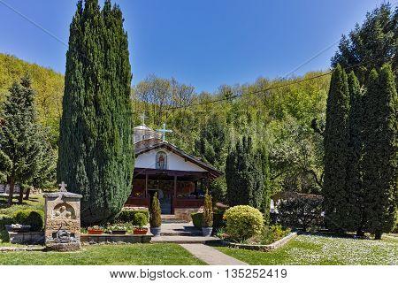 Spring Panorama of Temski monastery St. George, Pirot Region, Republic of Serbia