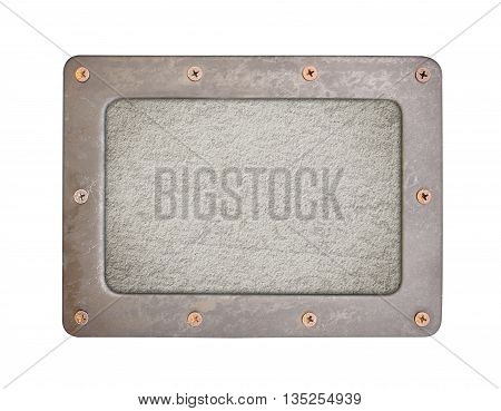 cement background plate with frame and screws