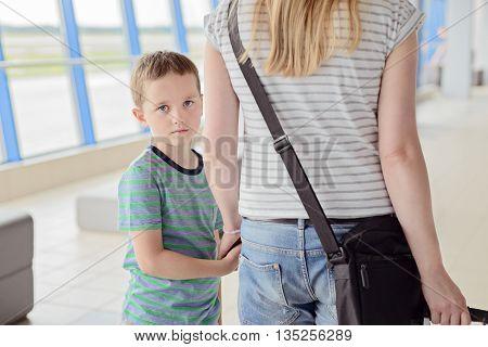 Sad Child, Boy Travelling