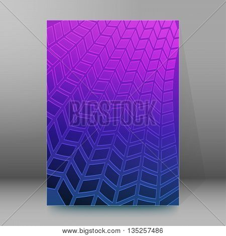 Brochure Cover Template Vertical Format Glowing Background38