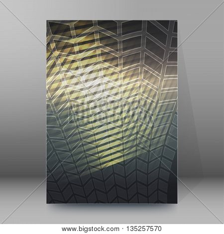 Brochure Cover Template Vertical Format Glowing Background39