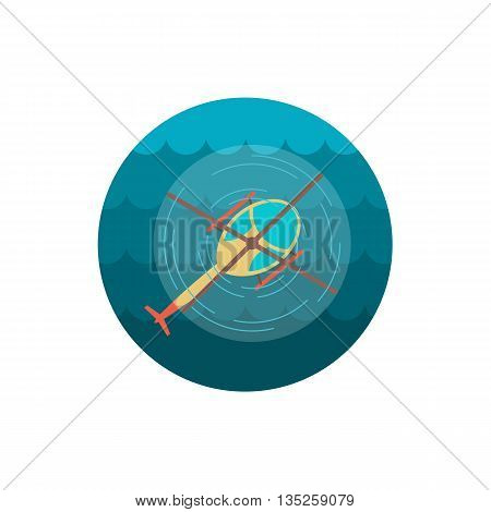 Helicopter vector icon. Travel. Summer. Summertime. Holiday. Vacation, eps 10