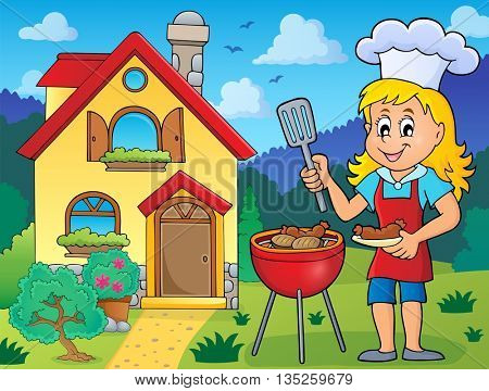 Barbeque theme image 6 - eps10 vector illustration.