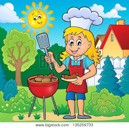 Barbeque theme image 5 - eps10 vector illustration.