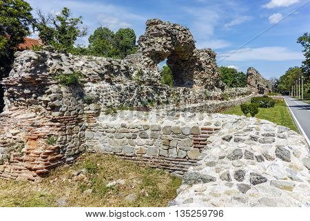 Remanings of the fortifications of the Roman city of Diocletianopolis, town of Hisarya, Plovdiv Region, Bulgaria